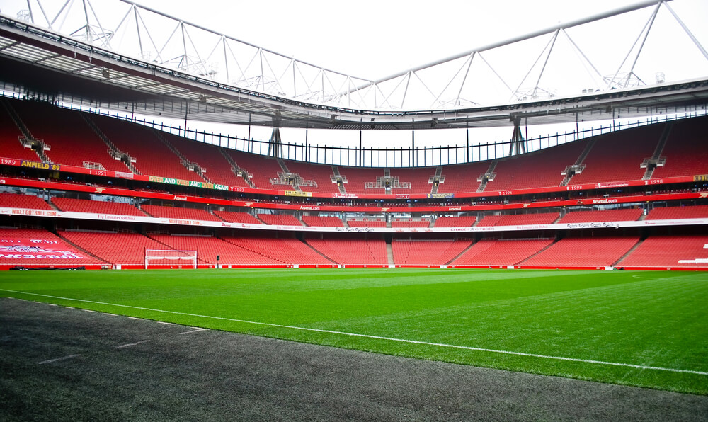 Emirates Stadion Arsenal London Innenansicht