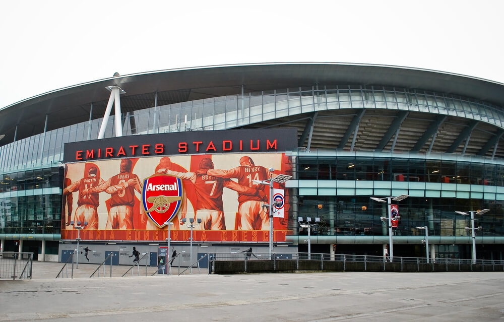 Emirates Stadion Arsenal London Aussenansicht