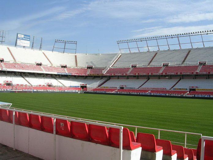 Innenansicht Stadion FC Sevilla, Estadio Ramón Sánchez Pizjuán