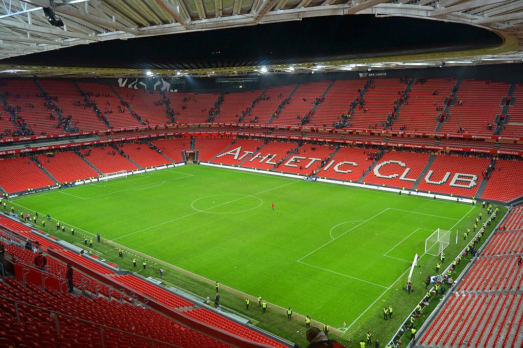 Innenansicht San Mames, Stadion von Atletic Bilbao