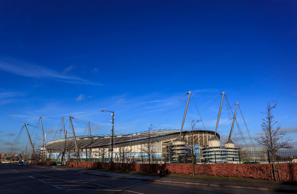 Ethihad Stadium Aussenansicht, Stadion Manchester City