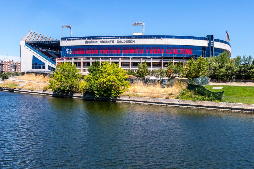 Estadio Vicente Calderon, Stadion von Atletico Madrid. Aussenansicht