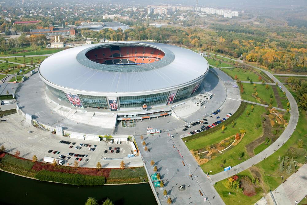 Shakhtar Donetsk Stadion, Donbass Arena Luftbild