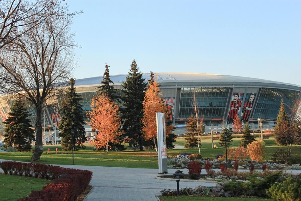 Shakhtar Donetsk, Donbass Arena Aussenansicht