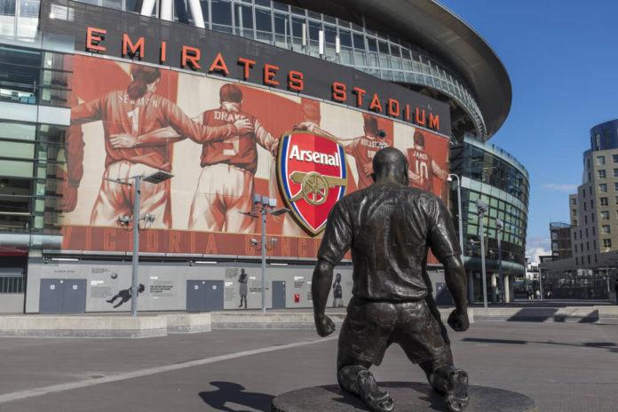 Emirates Stadion von Arsenal London von Aussen
