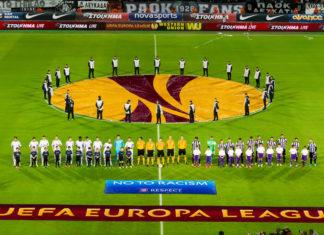 Vor dem Anpfiff in der Europa League