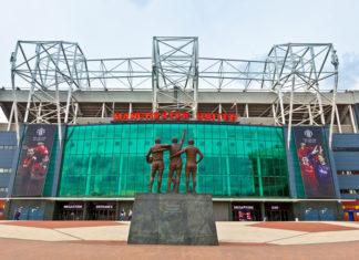 Haupteingang Old Trafford, Stadion von Manchester United