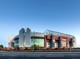 Old Trafford Stadion, Aussenansicht, Stadion Manchester United