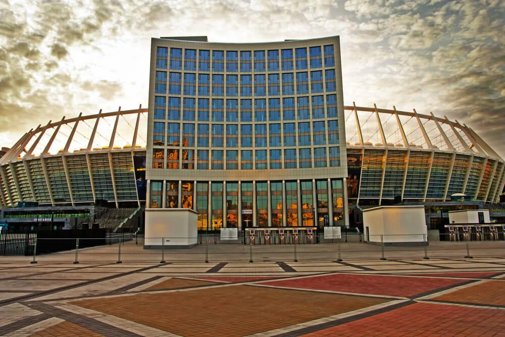 Olympiastadion Kiew Aussenansicht, Dynamo Kiew