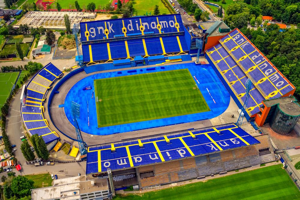 stadion maksimi vin Dinamo Zagreb, Luftaufnahme