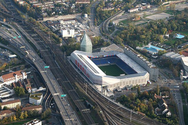 Luftbild vom St.Jakob-Park FC-Basel