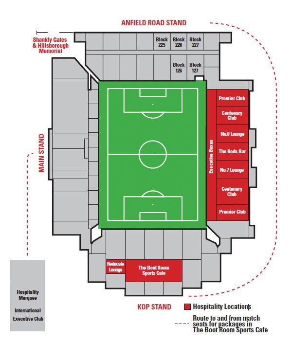 Anfield Road Stadionplan