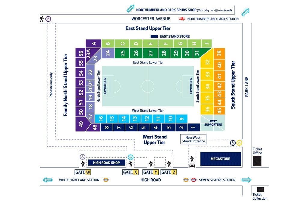 White-Hart-Lane-Stadionplan