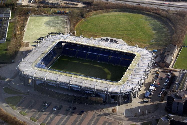 Bröndby Stadion von oben Bröndby IF