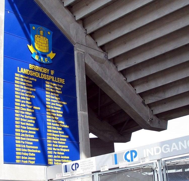 Bröndby Stadion Ehrentafel