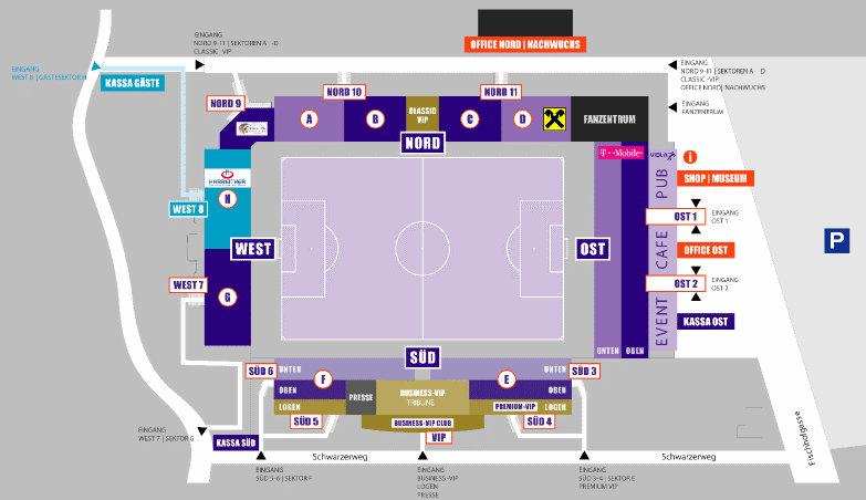 FK Austria Wien _Generali-Arena-Sitzplan