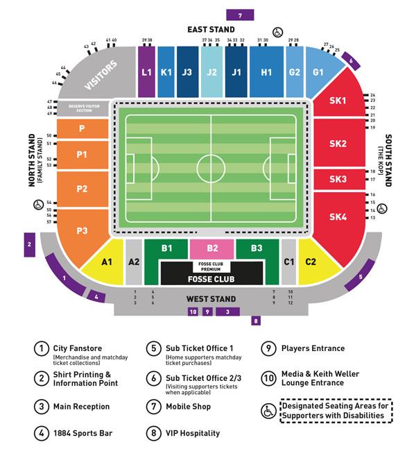 Leicester City Stadionplan