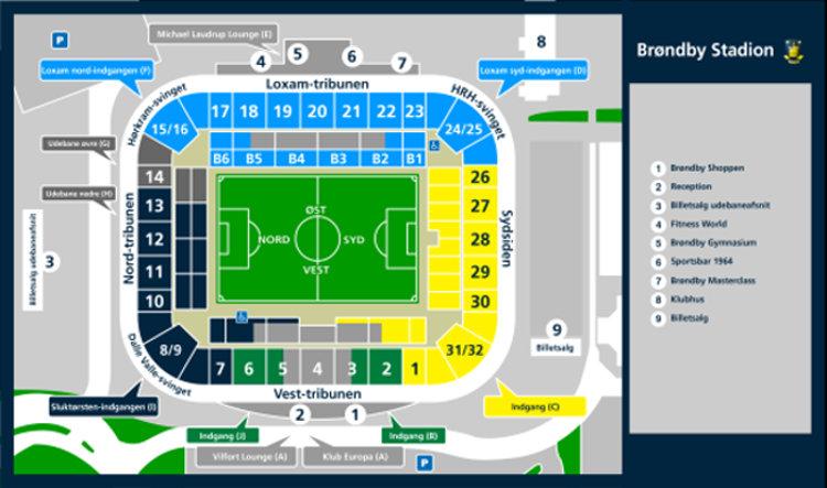 Stadionplan Bröndby IF