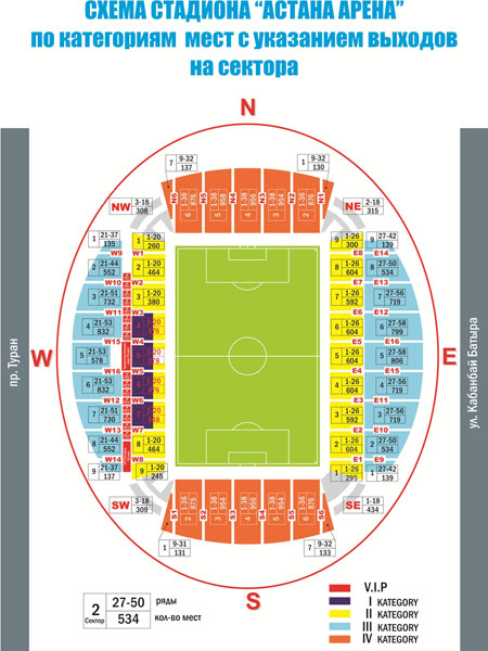 Astana Arena Stadionplan