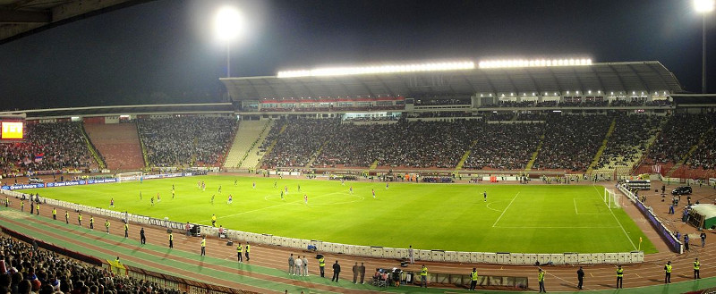 FK Roter Stern Belgrad Stadion Rajko Mitić Panorama