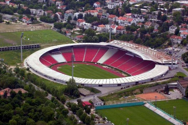 FK Roter Stern Belgrad Stadion Rajko Mitić  Von Oben