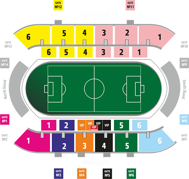 Stadionplan Kuban Stadion
