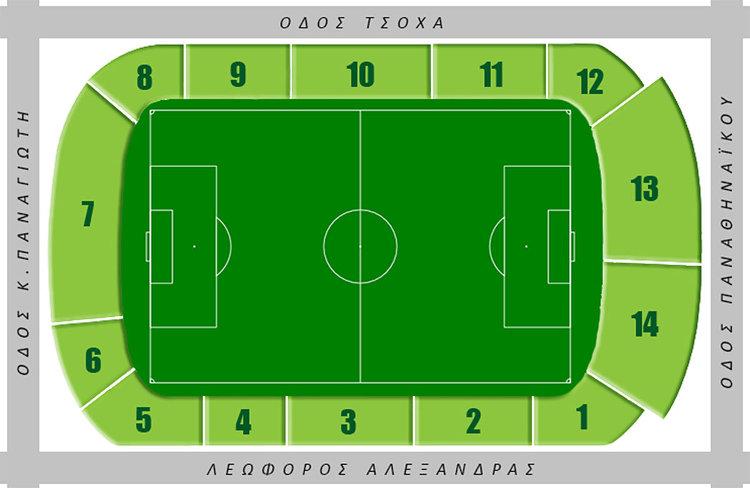 Leoforos_Stadion Sitzplan Apostolos_Nikolaidis Panathinaikos Athen