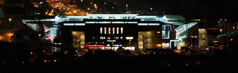 Lerkendal_stadion_at_night Rosenborg Trondheim Pano