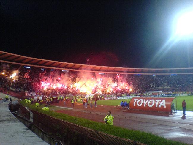 Stadion Rajko Mitić  Bengalo FK Roter Stern Belgrad