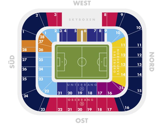 Red Bull Arena Sitzplan FC Red Bull Salzburg