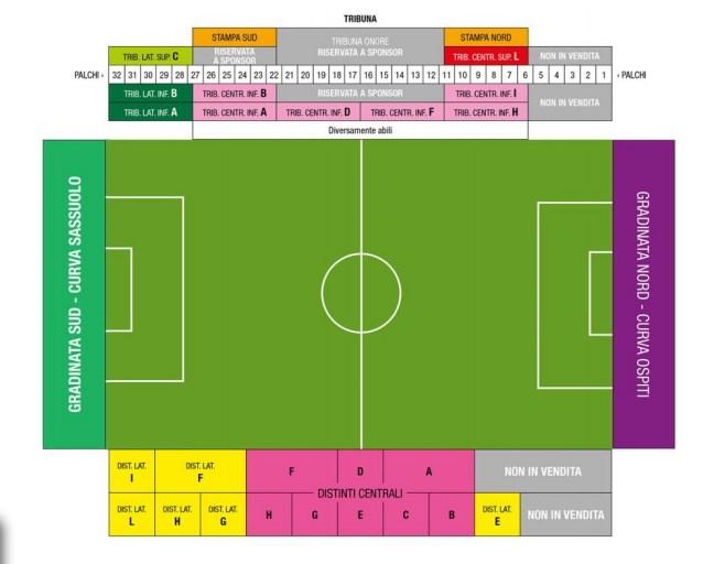 US Sassuolo Sitzplan Stadionplan Mapei Stadium