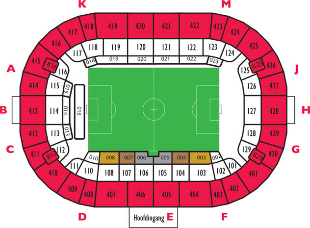 Sitzplan Amsterdam Arena Stadionplan