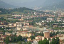 Atleti Azzurri d'Italia Atalanta Bergamo Luftaufnahme