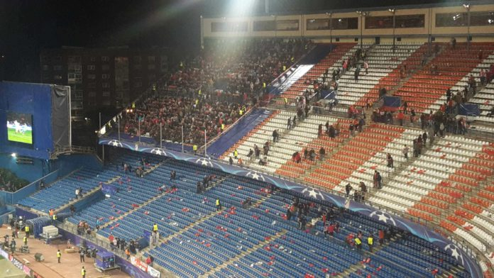 Atletico Madrid Leverkusen Gästeblock