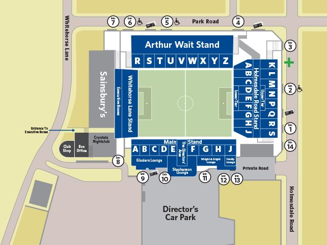 Stadionplan Selhurst Park Crystal Palace