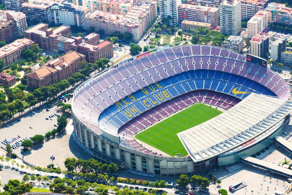 Camp Nou Stadion des FC Barcelona, Luftaufnahme