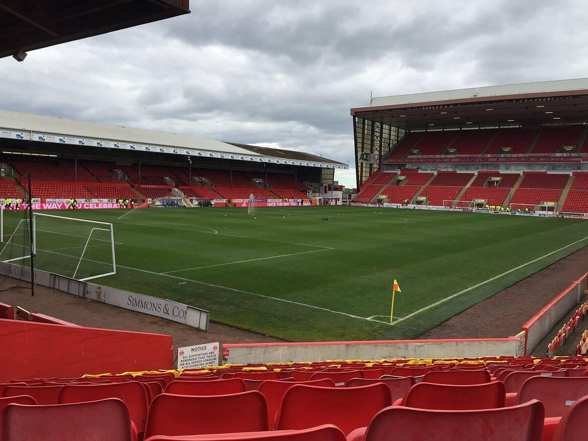 Pittodrie Stadium Innenansicht