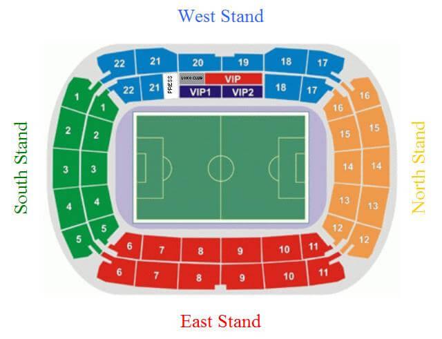 Lokomotiv-Stadion Plan