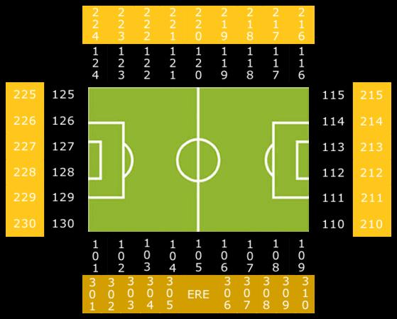Vitesse Arnheim, GelreDome Stadionplan