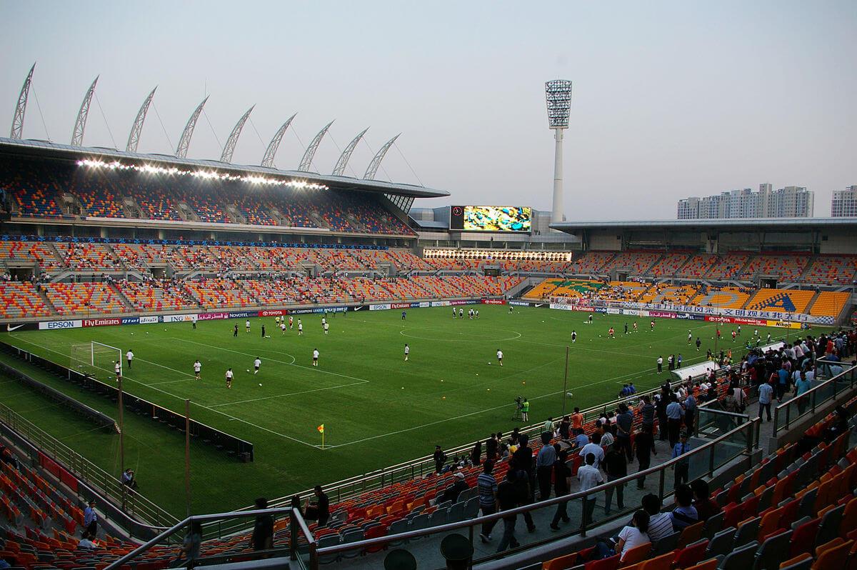 Fußball in China Stadion von Tianjin Teda