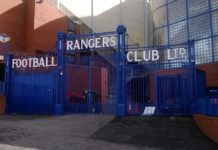 Eingang Ibrox Stadium Glasgow Rangers