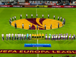 Europa-League-Hymne vor Spielbeginn